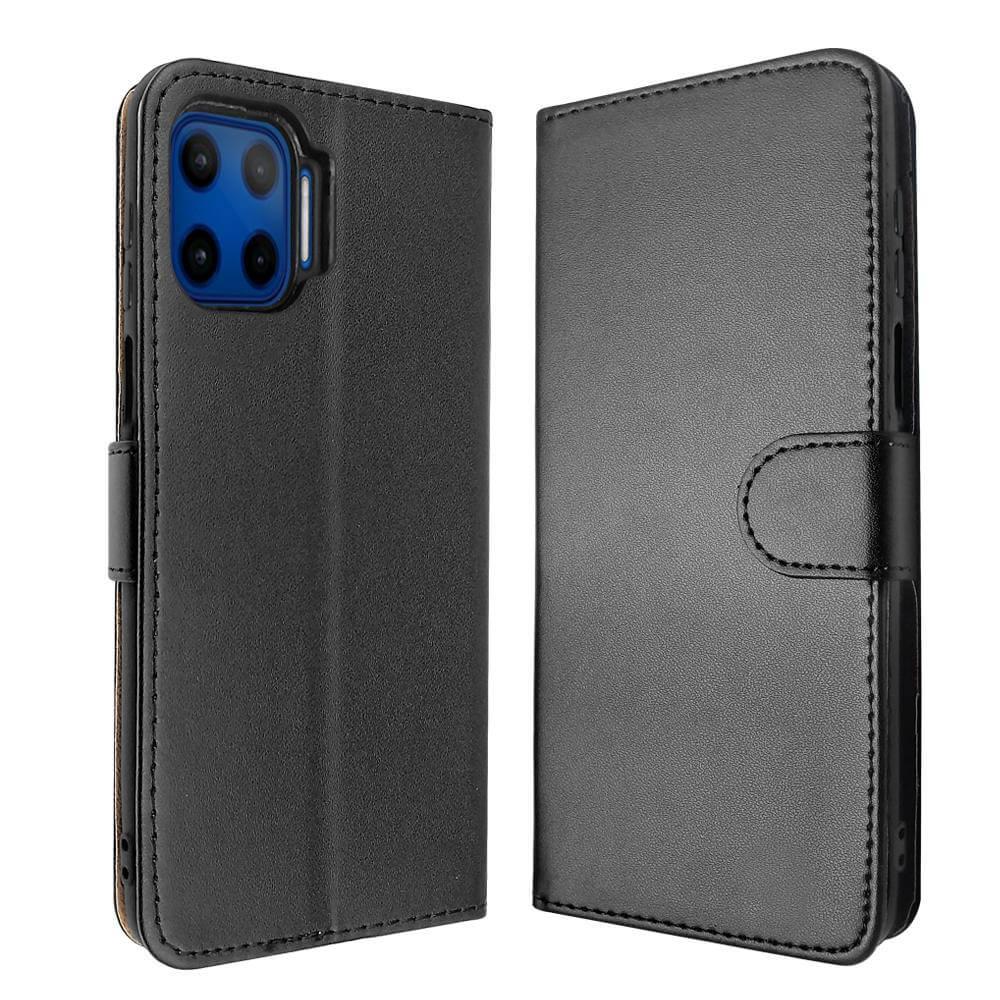 SDTEK Pelle Case Con Magnete Cover Flip per Samsung Galaxy Note 10 Lite (Nero)