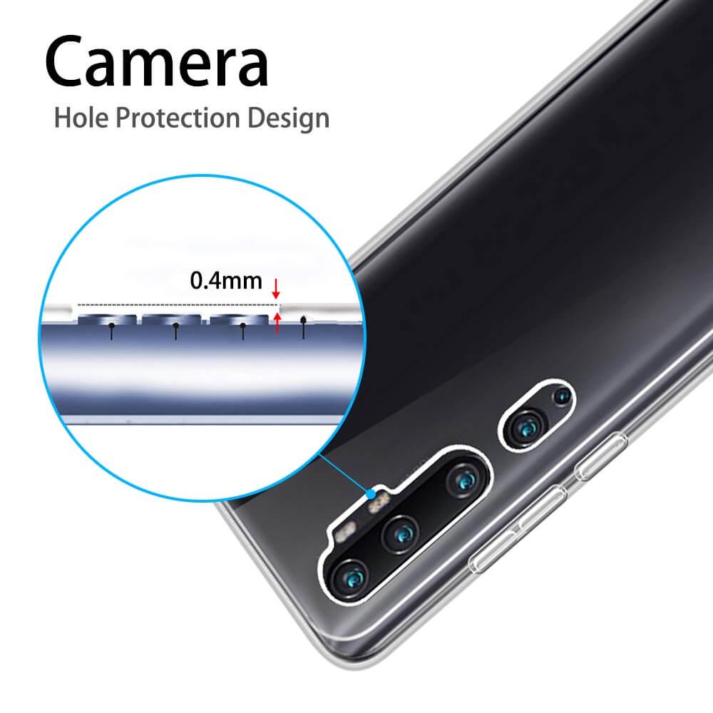 Custodia Per Xiaomi Mi Note 10 Copertura Gel Trasparente Protezione Vetro 3D